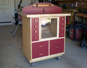 Creston Wood Two-Tone Router Cabinet
