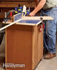 Family Handyman Router Table and Cabinet