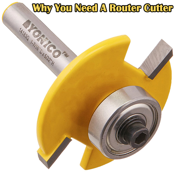 An image of a Router Cutter that is steel with yellow
