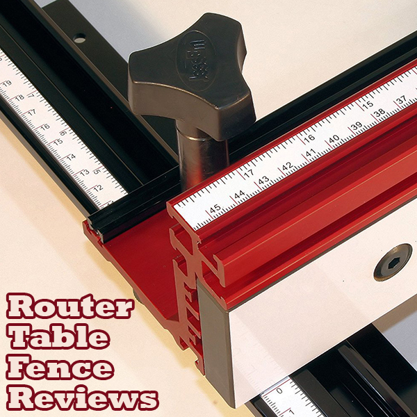 A Router table Fence in use