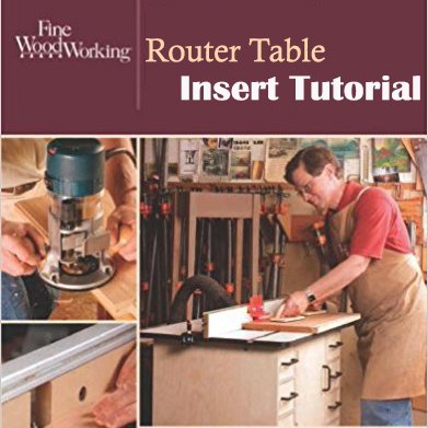 A Router Table Insert Tutorial