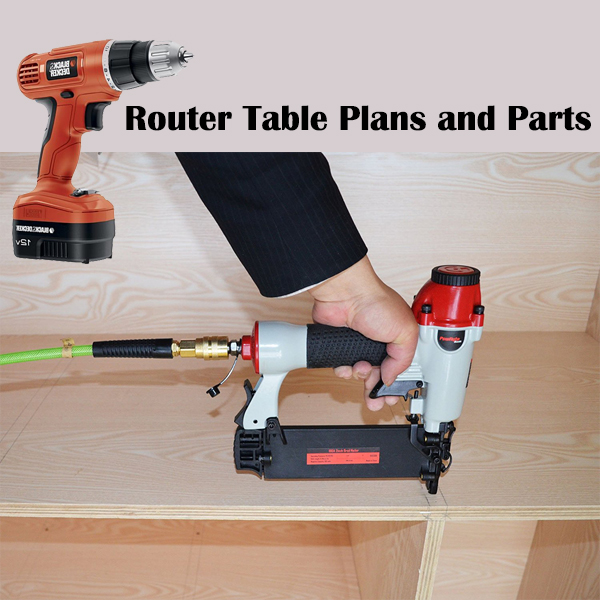 a picture of someone using power tools to make a router table.