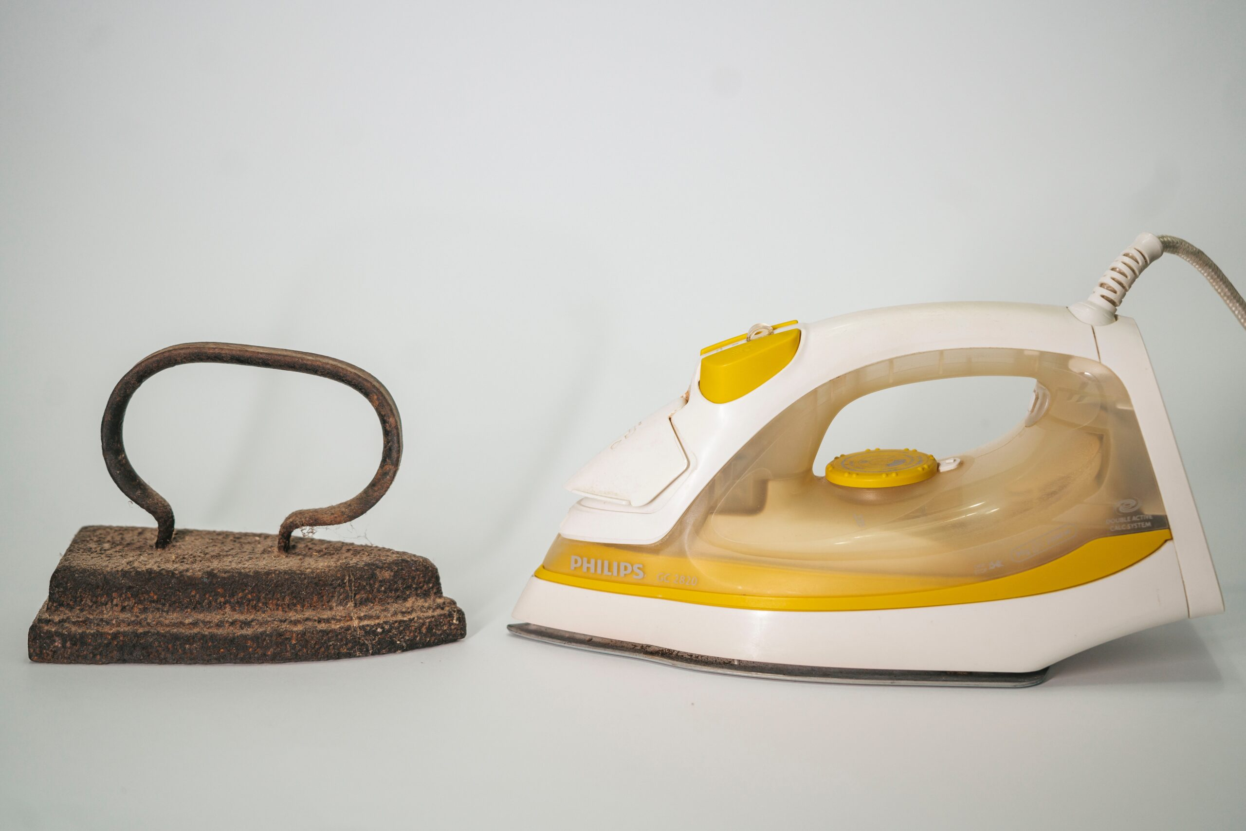 Two Irons for removing marks from wood